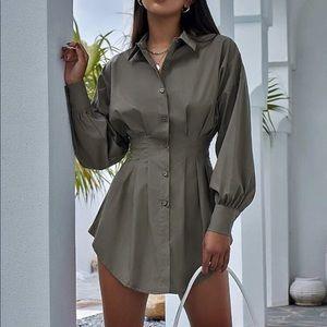 Gathered waist blouse